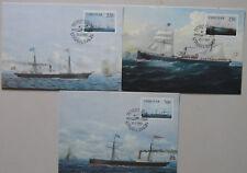 Faroe Islands MAXIMUM CARD no 6 to 8 AFA 73-74-75 Scott 90-91-92 FDC 21-2-83
