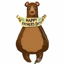 """FATHER'S DAY PARTY SUPPLIES 35"""" FATHER'S DAY BEAR SPECIAL SHAPE ANAGRAM BALLOON"""