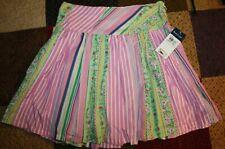 Nwt Ralph Lauren girls' skirt tiered rainbow colors size 7 side zipper closure