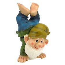 "10.5"" Handstand Henry the Garden Gnome Statue Outdoor Decor Figurine Figure Elf"