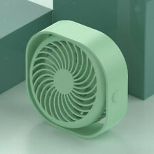 Mini USB Desk Fan 3 Speeds Rechargeable Desktop Table Silent for BBQ Gym Car