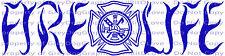 Fire Life Maltese Cross Vinyl Decal Firefighter Tools Sticker Fireman Firewoman