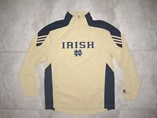 ADIDAS NOTRE DAME FIGHTING IRISH Gold Scorch Blue Pullover Sweater SHIRT USED S