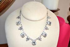 NIB $85 CAROLEE Art Deco Bib Necklace Swarovski CZ Crystals Bridal Special Occas