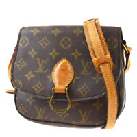 Auth LOUIS VUITTON Mini Saint Cloud Shoulder Bag Monogram Brown M51244 82BQ828