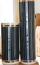 Carbon Infrarot Heizfolie 440Watt/m² für Sauna Infrarotkabine - 1m (1m x 0,5m)
