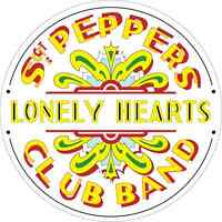 """The Beatles Sgt. Pepper's Lonely Hearts Band Music Bumper Sticker 5"""" x 5"""""""