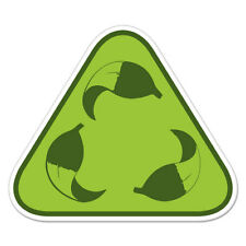 """Leaves Recycle Sign Environmental car bumper sticker decal 4"""" x 4"""""""