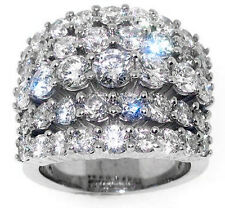 5.85ct Round Diamond Wedding Ring 14k White Gold