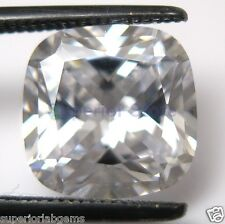 9.0 x 9.0 mm 4.00 ct Cushion Cut Sim Diamond, Lab Diamond WITH LIFETIME WARRANTY