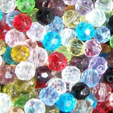 200 x 4mm Crystal Glass Faceted Round Beads - Assorted Mixed - A3427