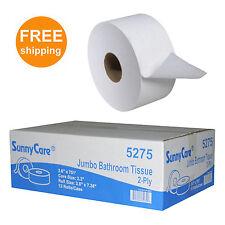 """SunnyCare® #5275 2-Ply Mini Jumbo Roll Bath Tissue,KTOR 3.6"""" x 751'  12Roll/Cs"""