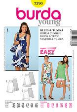 Schnittmuster burda style Nr 7390 Sommer-Tunika & Trägerkleid Gr. 36 - 46