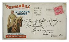 William Buffalo Bill Cody Wild West Show Envelope (1916) - Colorful & Authentic!
