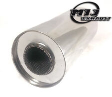 "Universal Exhaust Silencer 6"" x 1.75"" x 12"" Resonator Muffler Back Box S/S 304"