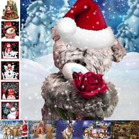 Christmas 5D Diamond Painting Full Drill Embroidery Cross Stitch Kits Xmas Gift
