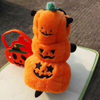 Autumn Winter Dog Cat Pumpkin Costume Halloween Pet Puppy Cosplay Coat Hoodie Ea