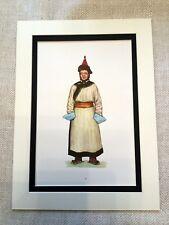 Vintage Costume Print Mongolian Costume Ethnic Bayit Mongol Empire Dress