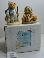 (Lot Ct290) Cherished Teddies Figurine Earl & Ella Both Haven Damage and Repairs