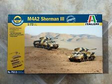 ITALERI 1/72 WW II AMERICAN U.S. ARMY M4A2 SHERMAN III TANK MODEL KIT # 7511 F/S