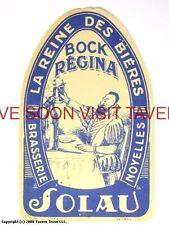 Scarce France Solau Novelles Bock Regina Biere Tavern Trove French Beer Label