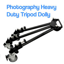 """34"""" Photography Tripod Dolly for Studio Camera Photo and Video w/ Folding Wheels"""