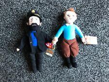 6pcs Die Abenteuer von Tim und Struppi Snowy Captain Haddock Thompson Figur