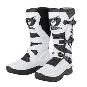 O'Neal Motocross Boots RSX White/Black MX Off-Road Enduro Quad ATV