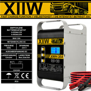 ✅✅30A Autobatterie Ladegerät 12/24V Kfz Pkw 400Ah Batterie Starthilfe Werkstatt