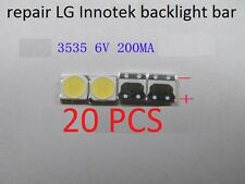 20 PCS repair LG Innotek backlight bar LEDs,LG 3535 6V 200MA 2W,Cool white light