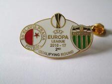 a1 SLAVIA PRAHA - LEVADIA cup uefa europa league 2017 football pins