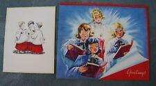 Lot 1940s ~ UNUSED Vintage Christmas Cards~NOS ~ Choir Singers