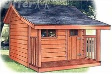 Detailed PLANS TO BUILD A WENDYHOUSE OR KID'S PLAYHOUSE 7 1/2 X 8' by yourself