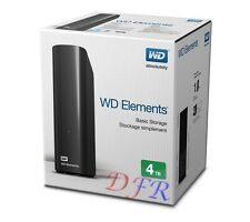 "HARD DISK ESTERNO 4TB 3,5"" USB 2.0 & 3.0 WESTERN DIGITAL 4000 GB 4 TB SATA HD WD"