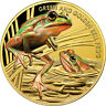 Niue 2017 Endangered Extinct Green Golden Bell Frog $100 1 Oz Gold MINTAGE 150