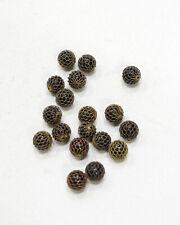 Beads Brass Mesh Glass Beads 9mm
