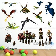 How to Train your Dragon Toothless Hiccup Wall decals Removable sticker kids Art