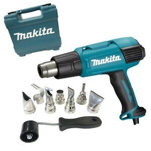 Makita Hot Air Gun With Various Nozzle 2000W Max. 650°C 200-550 L/Min