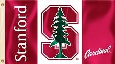 Stanford Cardinal 3' x 5' Flag (Logo with Wordmark) NCAA Licensed