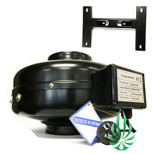 """8"""" Centrifugal Exhaust Inline Duct Fan Hydroponics Grow Tent Ventilation Blower"""