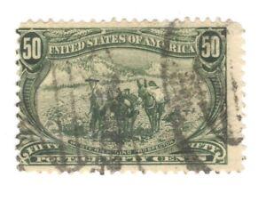 Scott 291 Early US Stamp.50c Trans Mississippi... 1898...