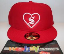 New Era Supreme New York Heart Red White Size 8 Fitted Cap Hat FW17H105 New