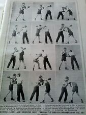 1920's Original Article on Boxing Positions Games Health Educational