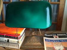 Antique (almost) Emeralite Banker's Lamp, NY model # 8734, Emerald Glass