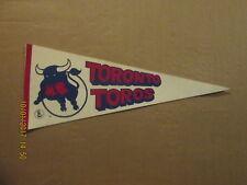 WHA Toronto Toros Vintage Defunct Style #1 Logo Hockey Pennant