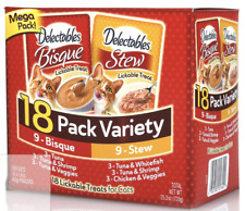 Hartz Mega Pack Delectables Lickable Cat Treats - Bisque & Stew, 18 Pack Variety