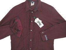 NEW Dolce & Gabbana Ruffled Shirt! e 54 Large *Maroon* *Slim Fit*  *Lightweight*
