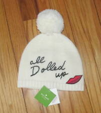 Kate Spade New York All Dolled Up Cream Hat Cream PomPom OS NWT