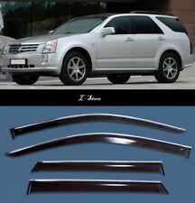 Chrome Trim Side Window Visors Guard Vent Deflectors For Cadillac SRX 2004-2009