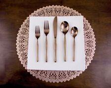Rose Gold Flatware cutlery. Fine Modern service for 12 (60 Pieces) - Slanciato
